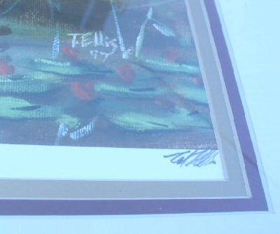 Ted Ellis Wading in the Water II Print Framed Signed