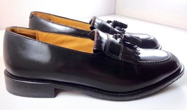 Bostonian First Flex Dress Shoes Mens Black Leather Tassel Loafers size 9 M - $79.15