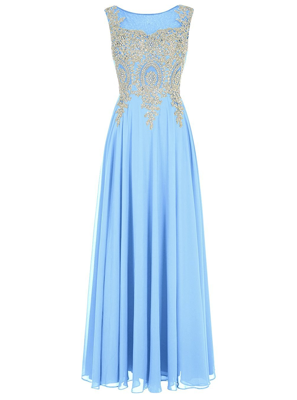 Primary image for Long Applique Prom Dress Long Chiffon Evening Dress Formal Dresses Party Gown