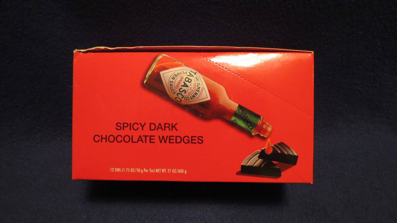 Primary image for 12 Pack -Tabasco Brand Spicy Dark Chocolate Wedges in a Collector Tin(8 Pieces)