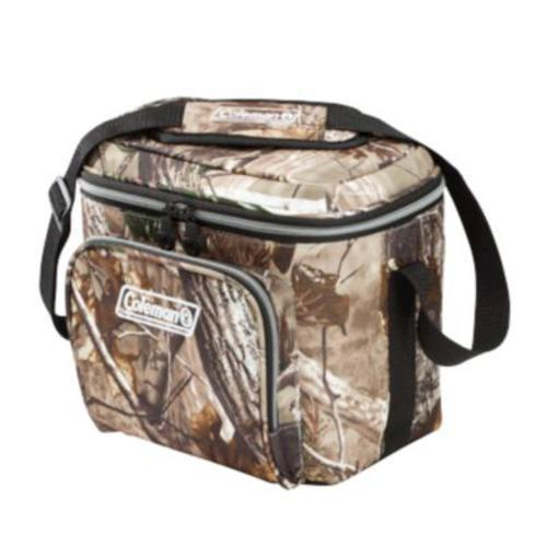 Primary image for 2 -9 Can Soft Cooler, 1 Real Tree Camo, 1 Solid Blue Coleman w/ hard liner