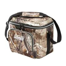 2 -9 Can Soft Cooler, 1 Real Tree Camo, 1 Solid Blue Coleman w/ hard liner - $41.18
