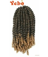 YEBO Ombre 8 in Spring Twist Crochet Braids Bomb Synthetic Hair 3 Pack-... - $18.46