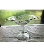 Vintage Heisey Empress Compote Elegant Glass Etched Flowers 1938-1957 - $19.99