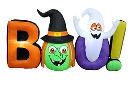 BZB Goods 8 Foot Long Halloween Inflatable Witch Ghost Boo LED Lights De... - $108.04