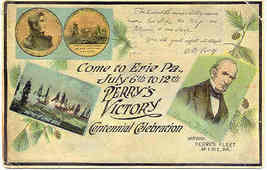 Perry s Victory at Lake Erie Centennial 1913 Post Card - $12.00