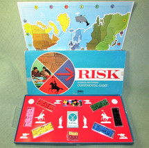 1968 RISK Board Game COMPLETE Early Version Wood Vintage War Parker Brot... - $46.74