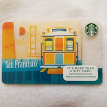Limited Edition 2014 San Francisco Trolly Bridge Starbucks Gift Card Zero $ Valu - $8.00