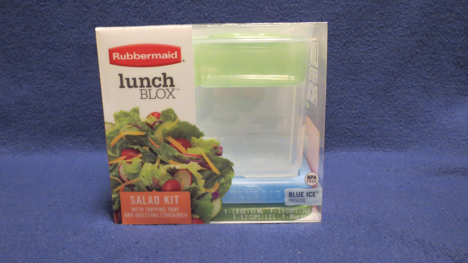 Primary image for NEW Rubbermaid 1806179 Lunch Blox - 3 Piece Salad Kit