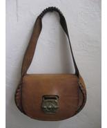 Amazing Leather Hippie Handmade Shoulder Bag With Brass Demon Buckle - V... - $349.00