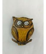 Wooden Owl Brooch Pin - $9.95