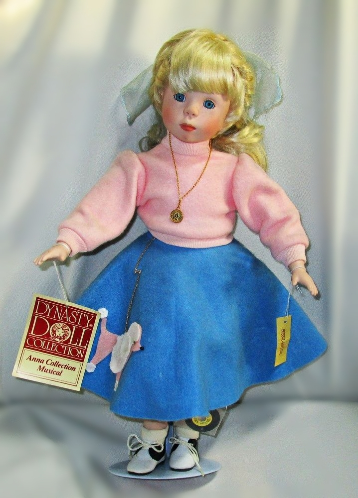 Dynasty Collection Bobbie Musical Doll 17 Inches Tall Retail $125.00