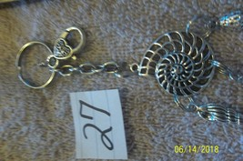 # purse jewelry silver color  shell keychain backpack filigree dangle charm #27 image 2