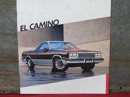 Original 1986 Chevrolet El Camino Sales Brochure 86 Chevy - $24.74