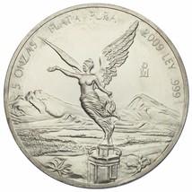 2009 .999 de Plata Mexicana Libertad 5 Onzas con / Plástico Cápsula - $237.58