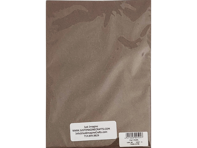 """Just Image Shimmer Cardstock, Italy Pearl, 10 Sheets, 5.75"""" x 8.25"""""""