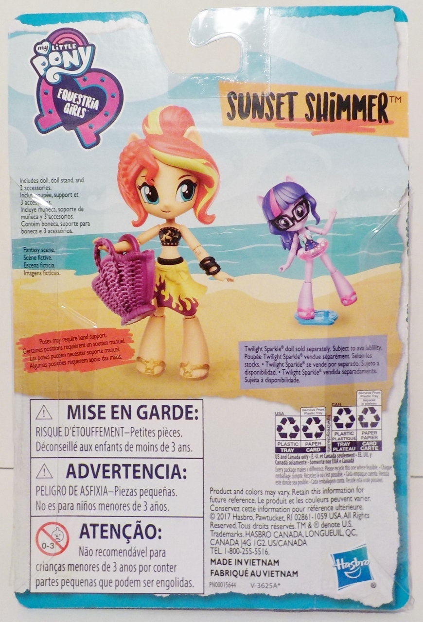 My Little Pony Equestria Girls Doll Sunset Shimmer Beach Collection 2017 image 5