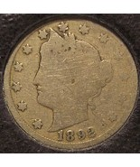 "1892 Liberty Head ""V"" Nickel G/AG #0226 - $5.29"