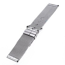 TFSeven® 24mm Unisex Thick Mesh Steel Watch Band Strap Bracelet Pin Buckle Silv - $22.09