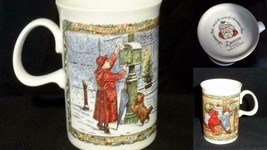 Dunoon Cup Stoneware Collectible Christmas Cheer Post 8 Oz Ceramic Scotland - $16.33