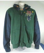 Men's Boy's PJS Parajumpers Size Large Green Heavy Cotton Hoodie Jacket Patches - $74.25