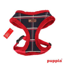 """Puppia """"Scholastic"""" Choke-Free Faux Fur Lined Halter Harness in Color Na... - $37.98+"""