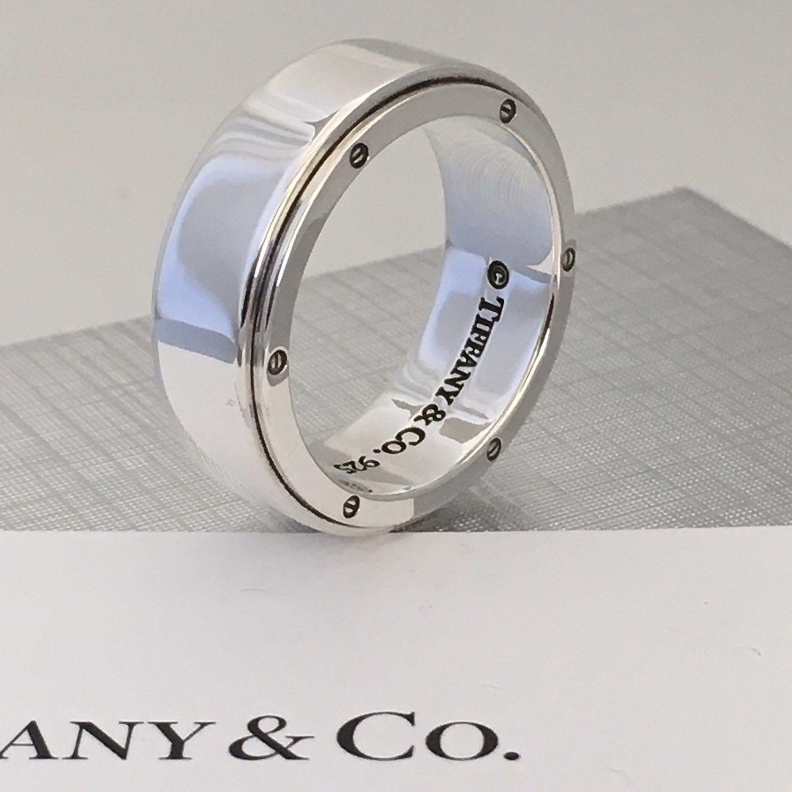 21a63987a Tiffany & Co Men's Unisex Sterling Silver Metropolis Ring Size 11.5