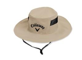 New! Callaway Unisex Sun Cap-Khaki/Black [S/M] - $65.73