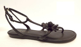 COLE HAAN Size 8 Black Ankle Strap Flower Sandals Shoes - $39.60