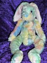 """Ty 2001 Plush Pastel Tie Dye Tylux Easter Bunny Rabbit Twitcher Soft 16"""" - $14.84"""