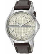 Armani Exchange Men's AX2100 Brown  Leather Watch - $117.80