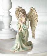 GRACEFUL KNEELING ANGEL Figurine Collectible Gift - $26.85