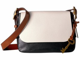New Fossil Women Harper Small Saddle Leather Crossbody Bag Variety Color - $139.99