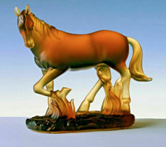 Cristal de Paris HORSE French Glass Figurine AMBER GIFT BOX NEW - $735.00