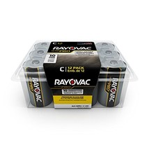 Rayovac C Batteries, Ultra Pro Alkaline C Cell Batteries (12 Battery Count) - $12.31