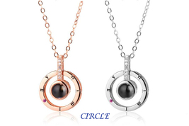 "XUFAN Romantic Projection (""I Love You"") Ladies Pendant - Various Styles, CZ image 6"