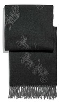 Coach Horse And Carriage Oversized Muffler Scarf Black - $118.79