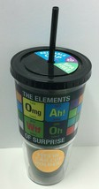 "Novelty Reusable 20oz ""The Elements Of..."" Printed Cup W/Straw, Free Shi... - $8.91"