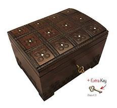Polish Handmade Jewelry Box Linden Wood Keepsake Large Wooden Chest - €37,65 EUR