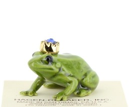 Birthstone Frog Prince September Simulated Sapphire Miniatures by Hagen-Renaker image 1