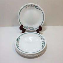 "7 Bread Plates Rosemarie Corelle 6.75"" Pink Flowers Green Leaves - $14.50"