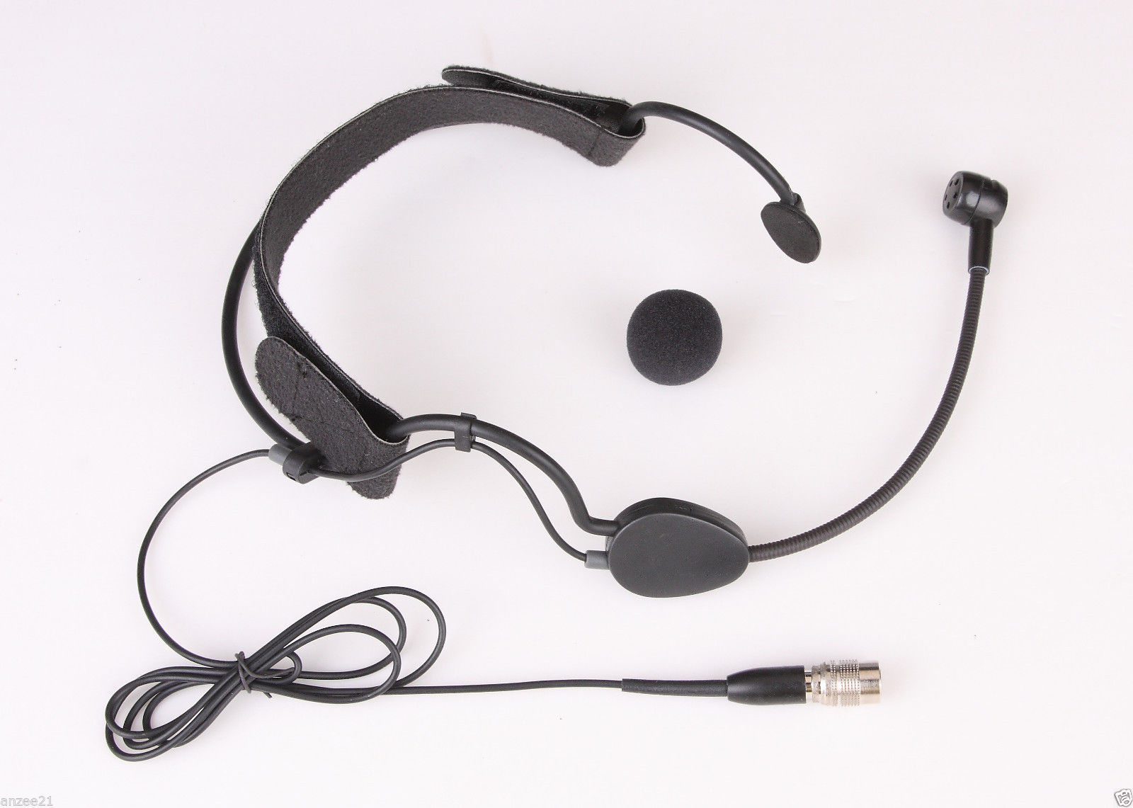 Beige Color Single Head Headset Microphone Mic For Audio Technica Wireless AT4