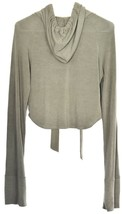 Windsor Olive Green Cropped Drawstring Pullover Hooded Top Hoodie Size S image 2