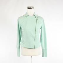 Turquoise blue cotton H BY HALSTON double breasted long sleeve jacket 6 - $79.99