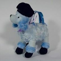Gymboree Europ EAN Holiday Blue French Poodle Purse Plush Beret - $19.79