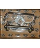 T S Workboard Faucet B-1122 Deck Mount 8 Inch Centers 10 Inch Swing Nozzle - $111.21