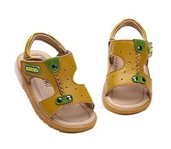 Cute Boy's Beach Sandals Comfortable Summer Shoes YELLOW, Feet Length 12.5CM