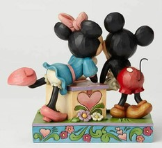 "6"" Kissing Booth Mickey & Minnie Mouse Figurine - Jim Shore Disney Traditions image 2"