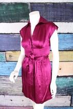 INC International Concepts Macy's Purple Silk Shirtdress Dress 2 Career ... - $15.19