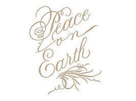 Spellbinders Hot Foil Script Peace on Earth Foil Transfer Letterplate #GLP-082 image 3